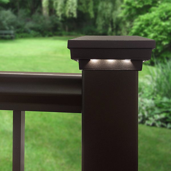 Railing Accents LED post cap indirect light