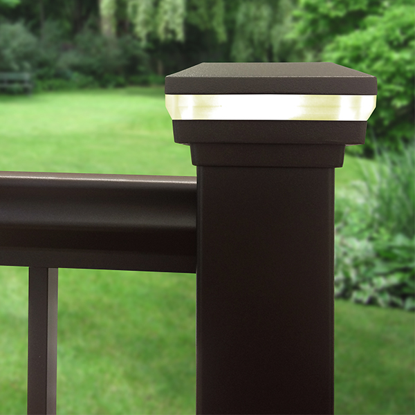 Railing Accents LED post cap perimeter light