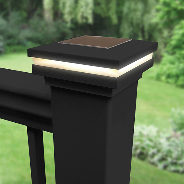 Railing Accents solar post cap light